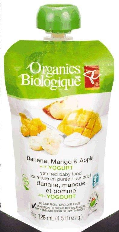 Banana, Mango & Apple with Yogurt - strained baby food
