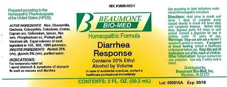 Beaumont Bio Med Homeopathic Diarrhea Response, 2 Fl Oz, Amber Glass, Oral Spray