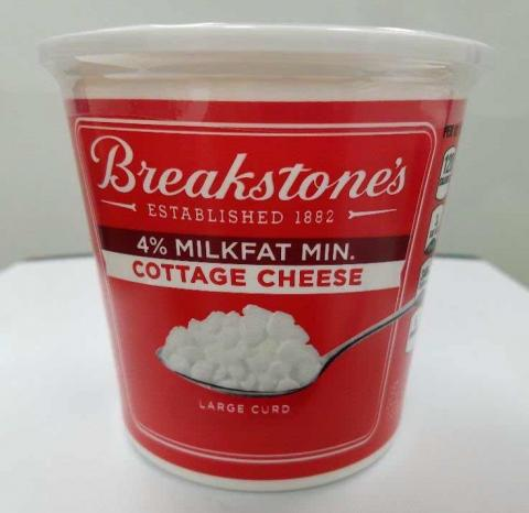 Label, Breakstone's 4% Milkfat Large Curd Cottage Cheese, 24 oz.
