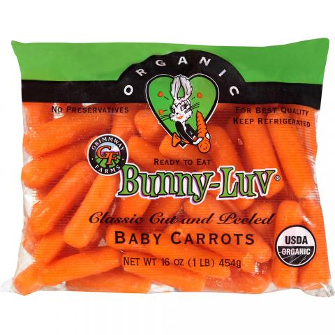 Bunny Luv Organic Baby Carrots 1 lb Front