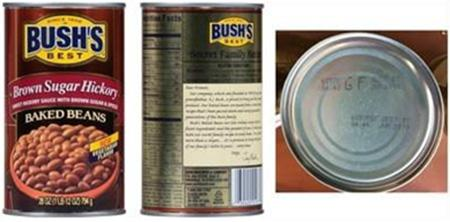 Bush's Best Brown Sugar Hickory Baked Beans, 28 oz, UPC 0 3940001977 0, Lot Codes 6097S GF & 6097P GF, Best By Jun 2019_0