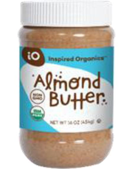 """Product image Inspired Organics, Organic Almond Butter, 16oz""."