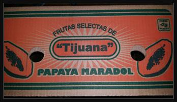 Carton label, Maradol Papayas