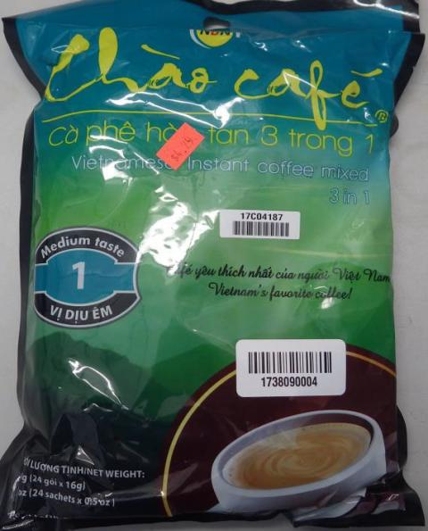 Chao Café Vietnamese Instant Coffee mixed 3 in 1, 384 g, front of package