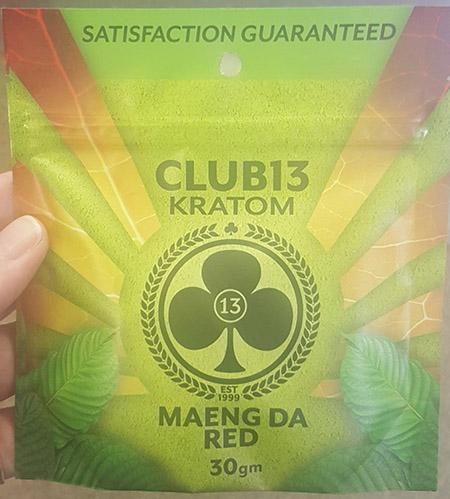 Club 13 Kratom Maeng Da Red, front label