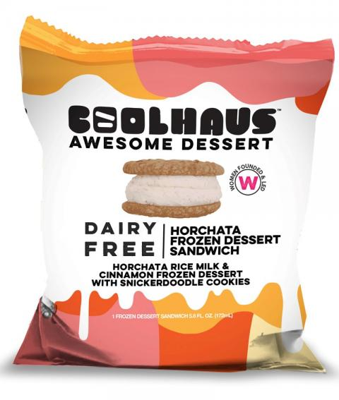 CoolHaus Dairy Free Horchata Frozen Dessert Sandwich, Package Photo