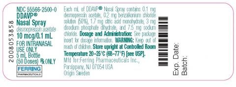 Label, DDAVP® Nasal Spray 10 mcg/0.1mL
