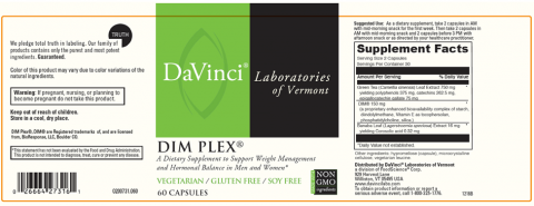DaVinci Laboratories of Vermont, Dim Plex, 60 capsules