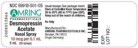 Label, Desmopressin Acetate Nasal Spray 10 mcg/0.1mL