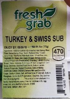 Fresh Grab Brand Turkey and Swiss Sub label image