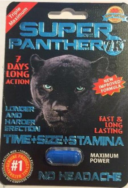 Front of blister card, Super Panther 7K