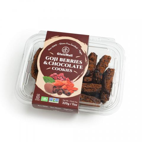 Glutenull Goji Berries and Chocolate Cookies, 320 g/11 oz, front view