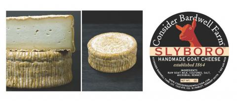 Image of cheese and label: Consider Bardwell Farms Slyboro Goat Cheese
