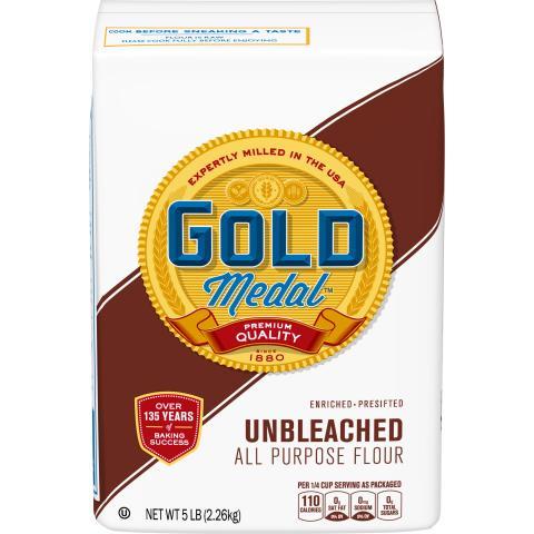 Label, Gold Medal Unbleached Flour
