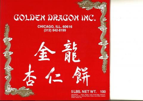 Golden Dragon Inc. 5 LBS NET WT. label