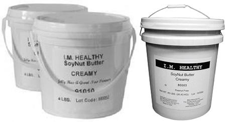 I. M. Healthy SoyNut Butter creamy in pails