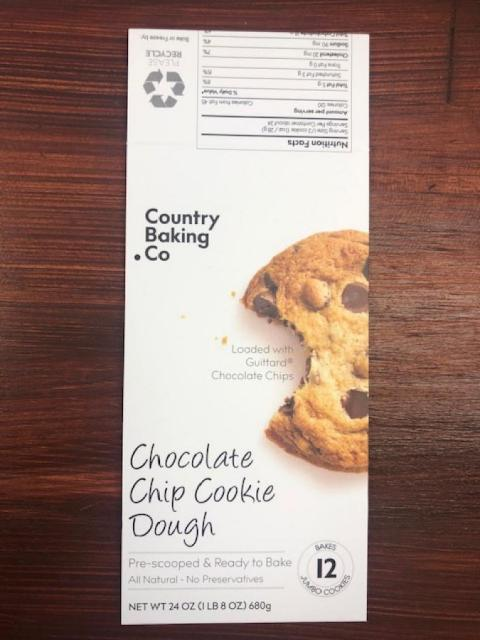 Country Backing Co. Chocolate Chip Cookie Dough, Net Wt 24 oz