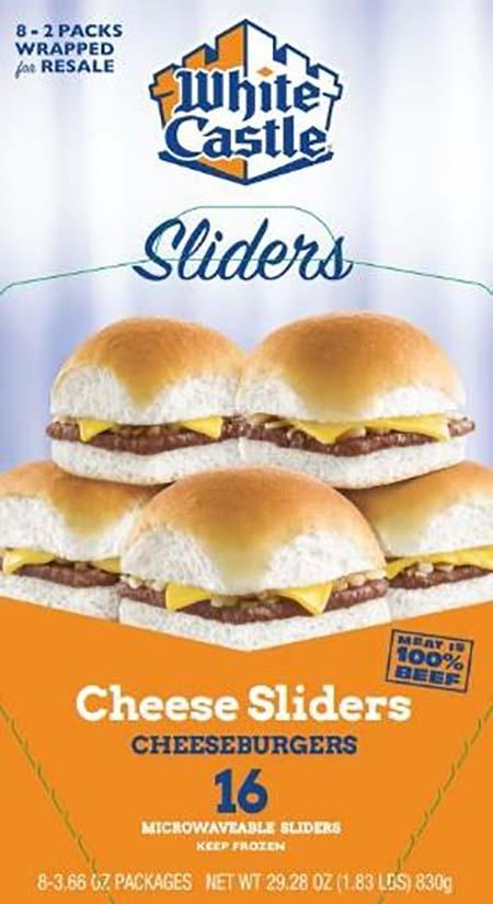 White Castle microwaveable 16 pack cheeseburgers