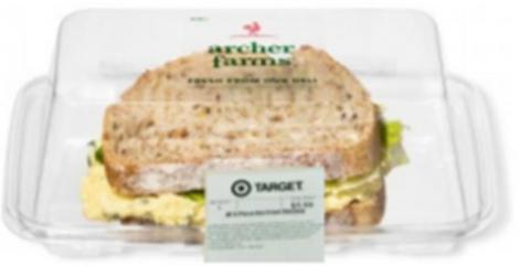 """Product image Archer Farms-brand Deviled Egg Sandwich on Multigrain, Sandwich in Mini Sub Container"""