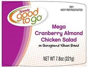 Label, Good to Go Cranberry Almond Chicken Salad Mega