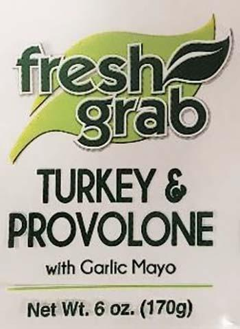 Product labeling, Fresh Grab Turkey & Provolone with Garlic Mayo 6 oz
