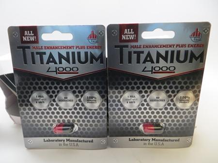 """Front of Package, Titanium 4000 capsules"""