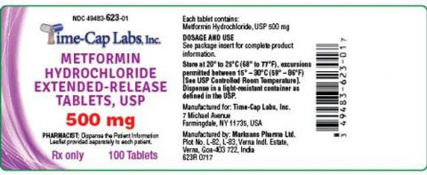 """Label, Time-Cap Labs, Inc. Metformin Hydrochloride 500mg tablets"""