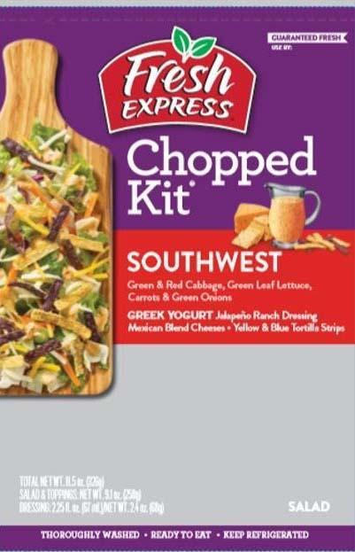 Label, Fresh Express Southwest Chopped Kit