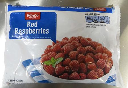 """Labeling, WinCo Foods Red Raspberries"""