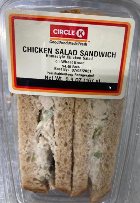 """Photo 1: """"Circle K Chicken Salad Sandwich"""""""