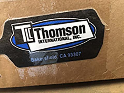 """Product label for carton, TLC Thomson International, Inc. Bakersfield, CA 93307"""