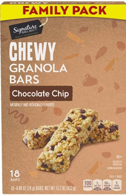 Photo 1 – Labeling, Chewy Granola Bars Chocolate Chip, Family Pack