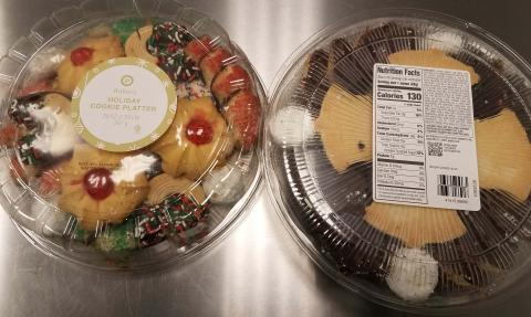 """Product image top and bottom Publix Bakery 20 OZ Holiday Cookie Platters"""
