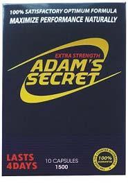 Label, Adam's Secret Extra Strength 1500