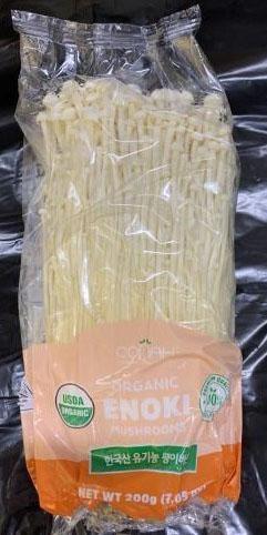 Organic Enoki Mushroom package