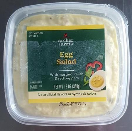 """Product top image, Archer Farms-brand Egg Salad 12 oz"""