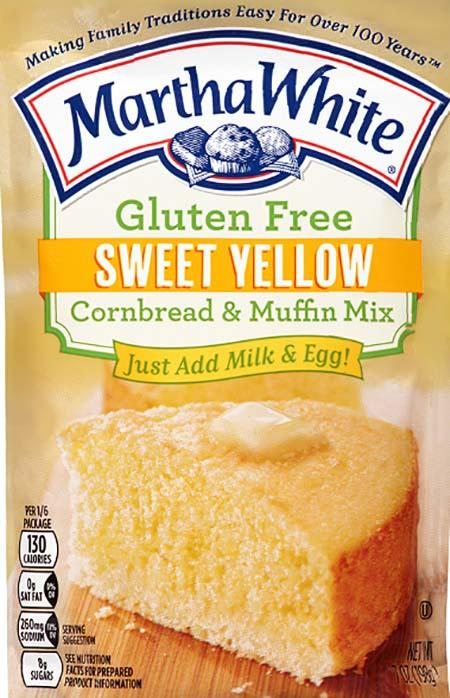 Martha White Gluten Free Sweet Yellow Cornbread and Muffin Mix, Net Wt 7 oz