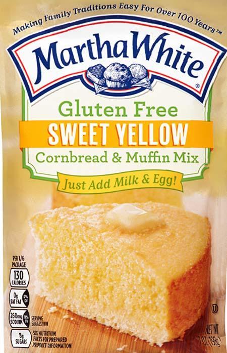 Martha White Gluten Free Sweet Yellow Cornbread and Muffin Mix, Net Wt 7 oz