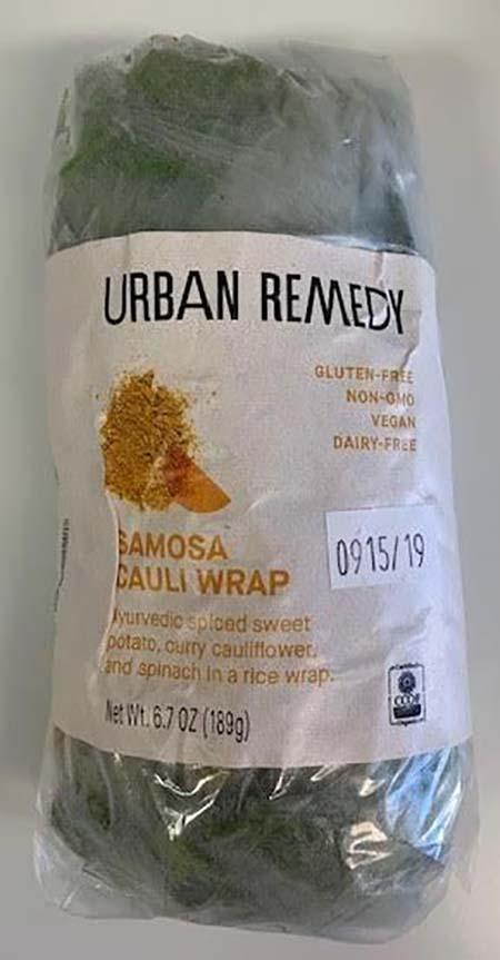 Urban Remedy Samosa Cauli Wrap, Use by Date 9/15/2019