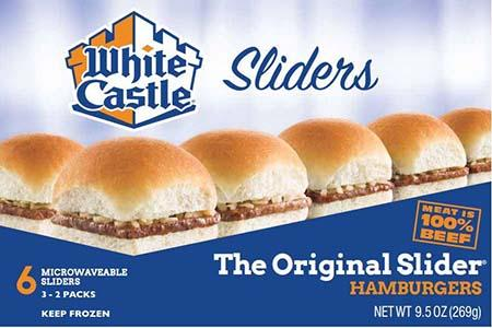 White Castle microwaveable 6 pack hamburgers