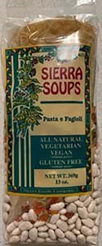Photo 1: Labeling, Sierra Soups Pasta e Fagioli