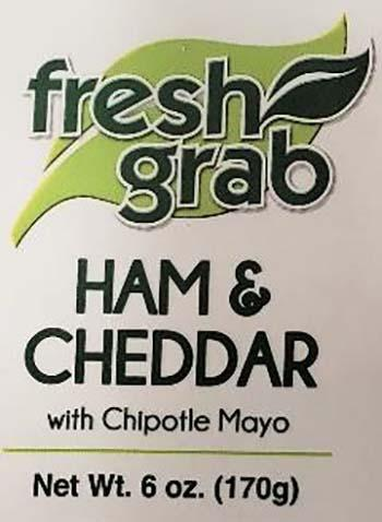 Product labeling, Fresh Grab Ham & Cheddar with Chipotle Mayo 6 oz