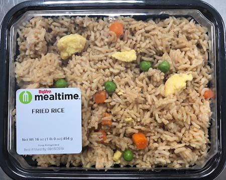 Fried Rice 16 oz - lot 19250 and 19251