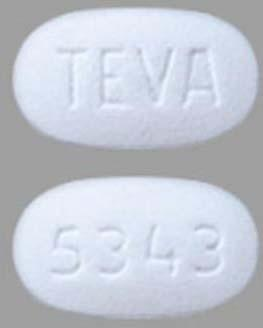 Product image top and bottom of tablets AvKare TraZODONE Hydrochloride Tablets USP 100 mg