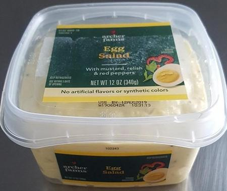 """Product side image, Archer Farms-brand Egg Salad 12 oz""'"