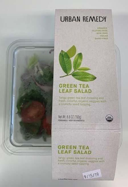 Urban Remedy Green Tea Leaf Salad,