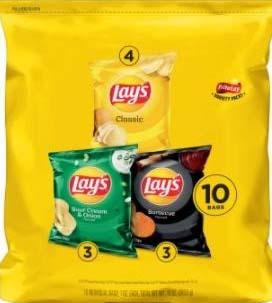 Photo 2 – Labeling, Multi pack, contains 1 oz. individual bags of Lay's Barbecue Flavored Potato Chips