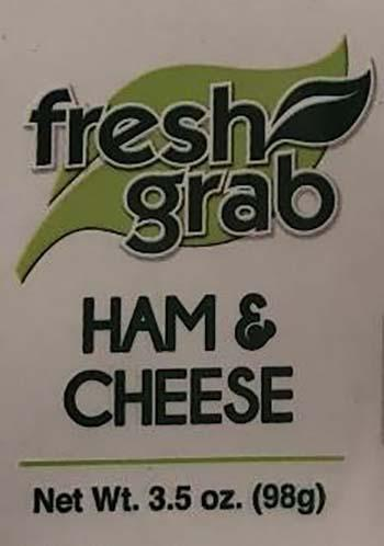 Product labeling, Fresh Grab Ham & Cheese Sandwich 3.5 oz