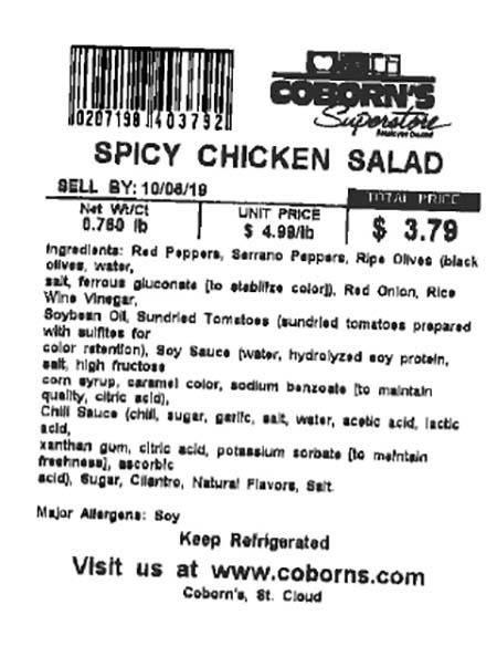 Label, Spicy Chicken Salad