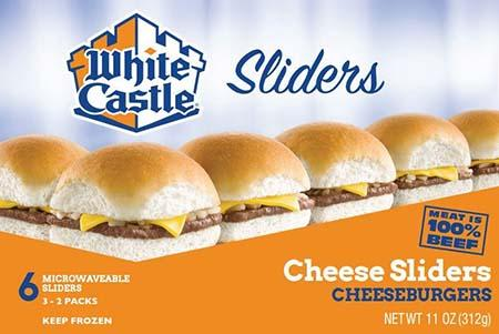 White Castle microwaveable 6 pack cheeseburgers